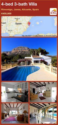 4-bed 3-bath Villa in Rimontgo, Javea, Alicante, Spain ►€450,000 #PropertyForSaleInSpain