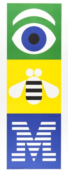 The history of logos - 99designs // pictographic IBM logo by Paul Rand