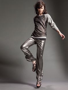 Naughty Dog FW15 long sleeve blouse and silver palace trousers
