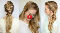Different Hairstyles You Can Use Daily Easy And Beautiful Hairstyles, Beautiful Braids, Elegant Hairstyles, Spring Hairstyles, Loose Hairstyles, Braided Hairstyles, School Hairstyles, Braided Updo, Prom Hairstyles