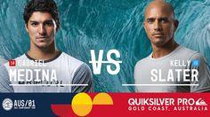 Gabriel Medina vs. Kelly Slater - Quiksilver Pro Gold Coast 2017 Quarter...