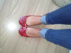 Ballerinas, look, flats, shoes