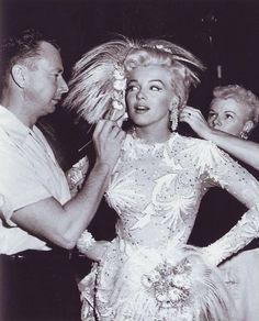 Marilyn Monroe with Allan Whitey Snyder Marilyn Monroe, Allan Whitey Snyder, There