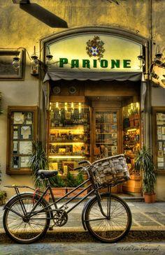 italian street scene Look at the way lighting is used in window