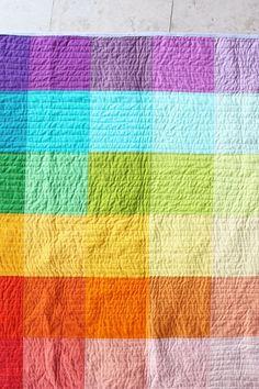 Super simple rainbow quilt.