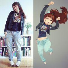#ootd #illustration  i really like this ghibli qwertee... blogpost coming soon.. dressesanddrawings.tumblr.com