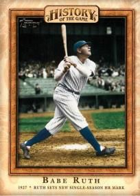 Babe Ruth 2010 Topps History of Game #10 + FREE 1995 DEREK JETER Yankees Rookie Year BONUS CARD!