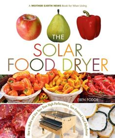 Recommended by Mother Earth News Editors - The Solar Food Dryer: How to Make and Use Your Own Low-Cost, High Performance, Sun-Powered Food Dehydrator by Eben V. Food Dryer, Design 3d, Design Concepts, Sun Power, Dieta Paleo, Mother Earth News, Dehydrated Food, Dehydrator Recipes, Broccoli Salad