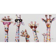 Gerahmtes Leinwandbild Curious Giraffes Family Framed canvas image Curious Giraffes Family now at Wa Framed Canvas Prints, Framed Wall Art, Canvas Frame, Canvas Wall Art, Art Prints, Canvas Canvas, Kids Canvas, Painted Canvas, Hand Painted