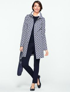 Talbots - Geo-Square Trench | New Arrivals | Misses
