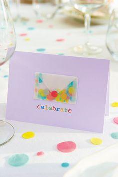 Papercraft celebrate card