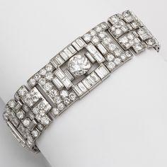 1920s Boucheron Diamond and Platinum Bracelet