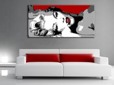 Painting Marilyn Monroe pop art hand painted on Canvas. Acrylic painting Wall decor Wall art gift by poparthouse on Etsy https://www.etsy.com/listing/194372204/painting-marilyn-monroe-pop-art-hand