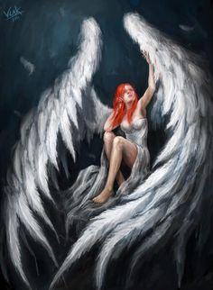 Anjos, deuses e demônios nas ilustrações de fantasia de Vuk Kostic a.k.a. chevsy