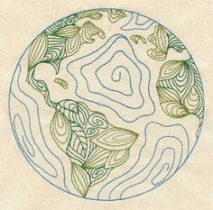 I think this is just really cool. Leaf shapes make up the continents.
