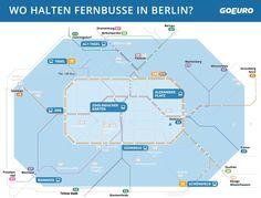 Wo halten Fernbusse in Berlin? Übersicht zu Busbahnhöfen und Fernbushaltestellen in Berlin.