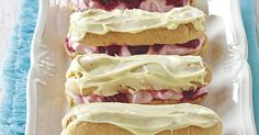 The best Raspberry and White Chocolate Eclairs recipe you will ever find. Welcome to RecipesPlus, your premier destination for delicious and dreamy food inspiration. Chocolate Eclair Recipe, Chocolate Icing, Chocolate Eclairs, Chocolate Cream, Chocolate Recipes, Chocolate Easter Bunny, Thing 1, Choux Pastry, White Chocolate Raspberry