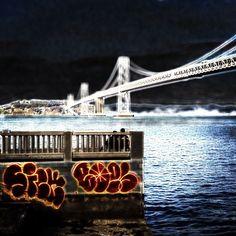 #sf #sanfrancisco #baybridge #graffiti - marzeedotes on Instagram