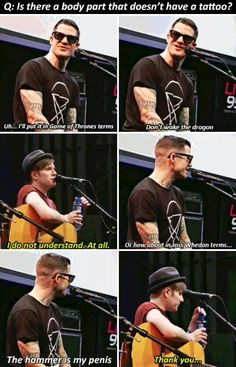 BAHAHAHAHAHAHA!!! I love Andy and Patrick interviews! XD