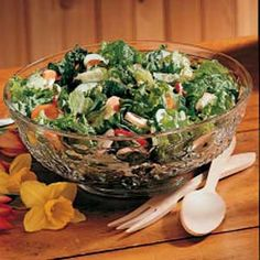 Three-Green Salad Recipe