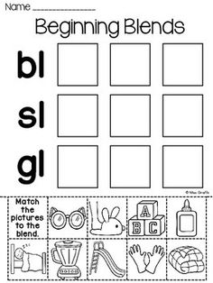 Digraphs word sorts worksheets: 3 different digraphs cut and paste worksheets where students cut and paste each picture to the right digraph. All 3 worksheets come in both full color and black & white that students can color. Consonant Blends Worksheets, Digraphs Worksheets, Fun Worksheets, Phonics Books, Phonics Reading, Phonics Rules, Jolly Phonics, Teaching Reading, Homeschool Kindergarten