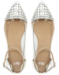 studded ballet flats for weddings | ASOS LEAD Studded Pointed Ballet Flats « SHEfinds