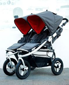 Bumbleride Indie Twin Stroller. This is curious and something I have not seen before!