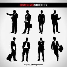 Businessman silhouette set