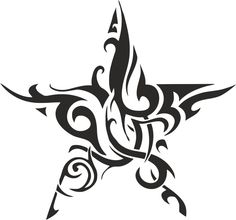 Tribal Tattoos, Star Tattoos, Body Art Tattoos, Tattoo Drawings, Shooting Star Drawing, Tribal Images, Gothic Fantasy Art, Star Tattoo Designs, Stencil Art