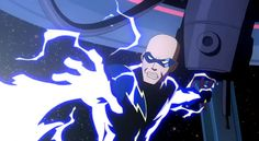 "Black Lighting in ""Justice League: Crisis on Two Earths"", voiced by Cedric Yarbrough. http://www.imdb.com/name/nm0946382/"