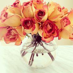 Lovely #roses in the kitchen - @classy_fabulous- #webstagram
