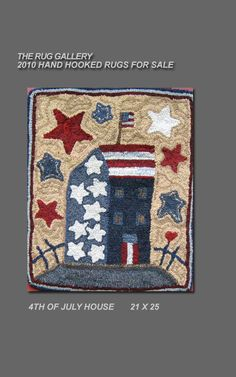 from American Country Rugs online, hand-hooked rugs in an Americana theme