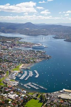 Hobart on the beautiful Derwent River xxoo ok hard might be able to see our place!!