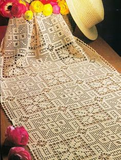 BUENISIMO crochet em revista: esquema crochet toalhas