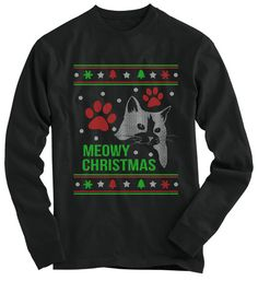 Meowy Christmas, cat lover Ugly Christmas sweater!
