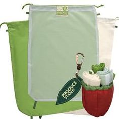 Eliminate the need for one-time use plastic bags with these reusable, washable bulk food bags.