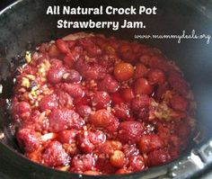 Crock pot Strawberry Jam is easy but many recipes contains lots of sugar. This is a natural crock pot strawberry jam recipe using only 4 ingredients. Jam Recipes, Canning Recipes, Fruit Recipes, Real Food Recipes, Slow Cooker Recipes, Crockpot Recipes, Strawberry Jam Recipe, Money Saving Meals, Crock Pot Cooking
