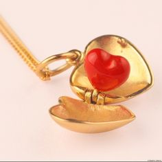 heart-shaped pendants by Les Nereides