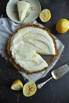 Lemon Yogurt Fridge tart - My Easy Cooking