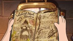 In gravity falls shorts, Dipper's Guide - the tooth, we see this monster. But look the page: Ford draw a boat, but... look. This boat did he think Stan'O War? Why Ford scratched the boat?