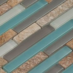 Could be the perfect compromise- counters, cabinets and the same tile from bathroom tile (turquoise)                                                     @Ellen Darnieder---check out this board and give your input please!  It's time for us to purchase tile for our backsplash!!