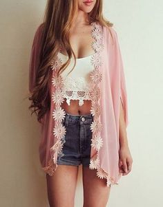 #summer #fashion / crochet pink