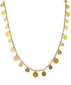 Ben-Amun Long Gold Lentils Necklace