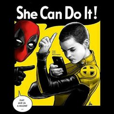 Negasonic Teenage Warhead by Hugo Dourado  Check Out http://stuffnerdslike.tv/ for all your favorite quirky gifts and interesting technology..