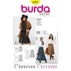 Burda - 6979 patroon Rok in 3 variaties | Naaipatronen.nl | zelfmaakmode patroon online