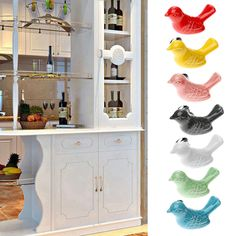 Herrajes para muebles de Aves De Cerámica Perillas de Puerta Del Cajón Armario Tire de la Manija Muebles Perillas y Tiradores para Muebles de Cocina de la Manija