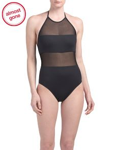 Illusion High Neck One-piece Swimsuit