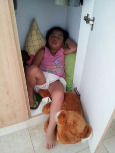Found sleeping inside the closet