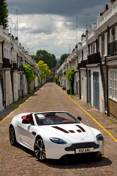 ♂ white car 2013 Aston Martin V12 Vantage Roadster #ecogentleman #automotive #cars #transportation