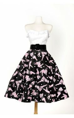 Doris Skirt in Pinup Print - Pinup Couture - House Brands | Pinup Girl Clothing
